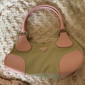 Auth Prada light Pink/beige shoulder bag